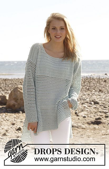Ravelry: 145-19 Donna - Jumper in Cotton Light pattern by DROPS ...