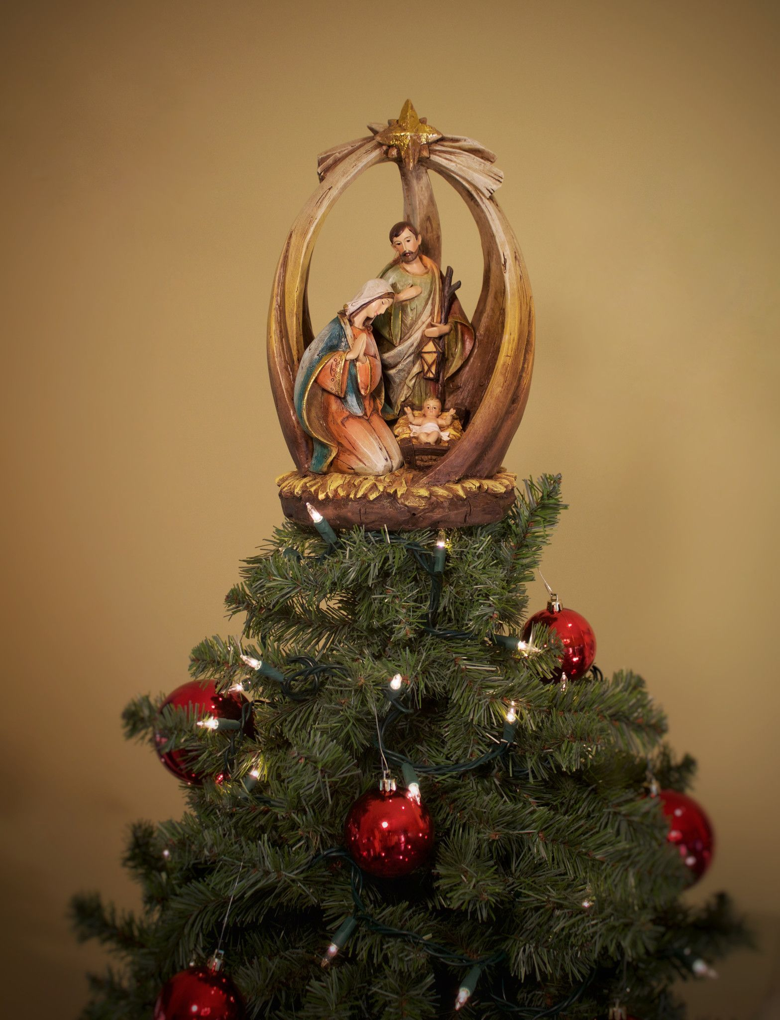 Unique Christmas Trees Holy Family With Star Unique Tree Topper Summit Arbor Unique