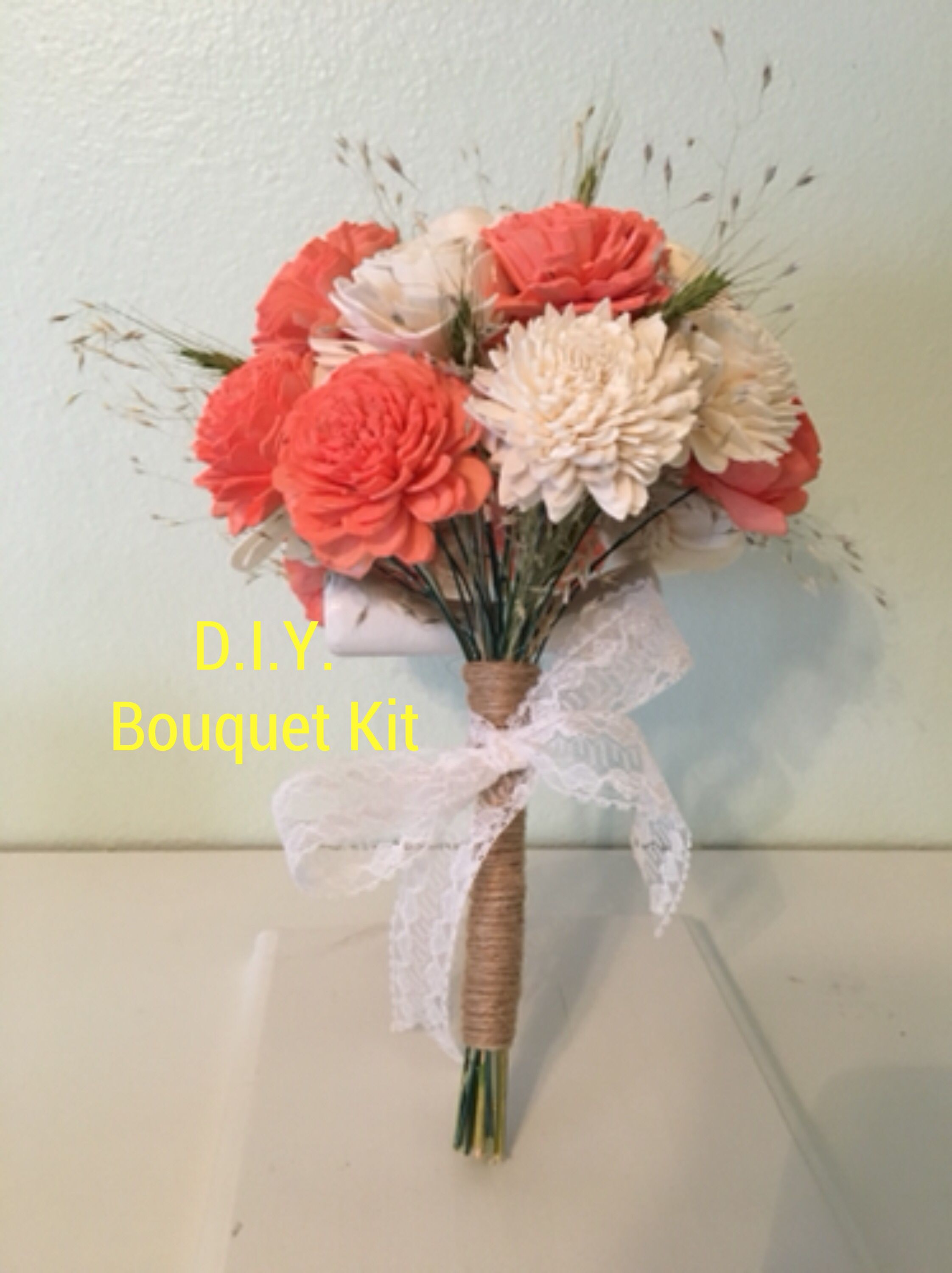 Create Your Own Bouquets Wood Flowers Diy Bouquet Wood