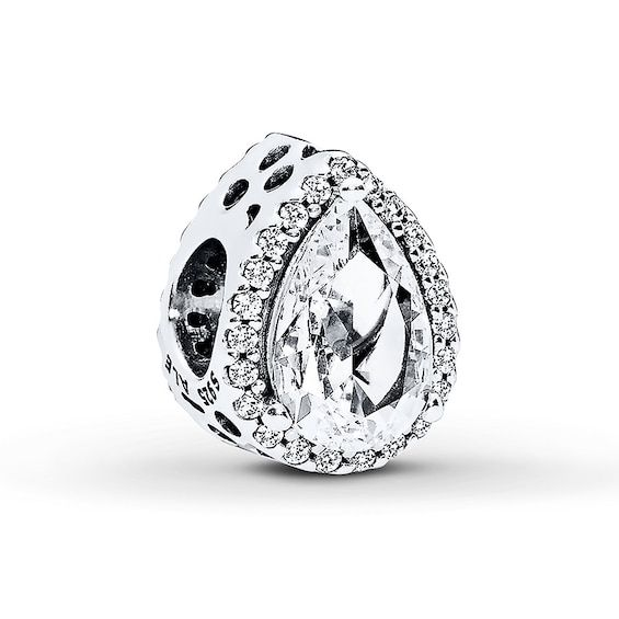 Who Sells Pandora Jewelry: Pandora Charm Radiant Teardrop Sterling Silver In 2020