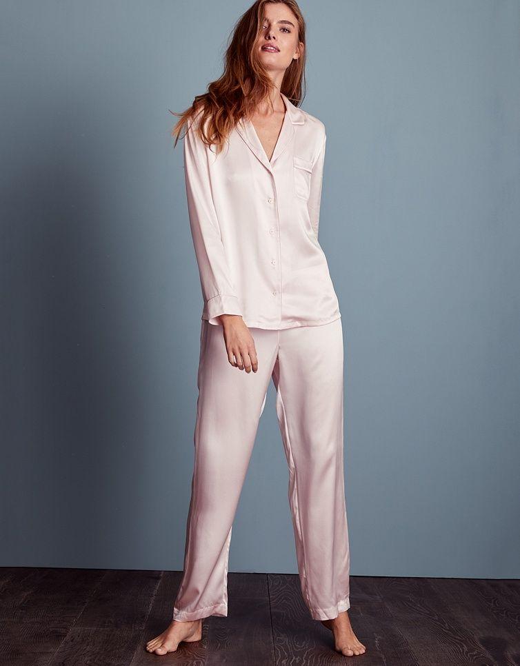 Silk Piped Pajama Set  f8adff4bc