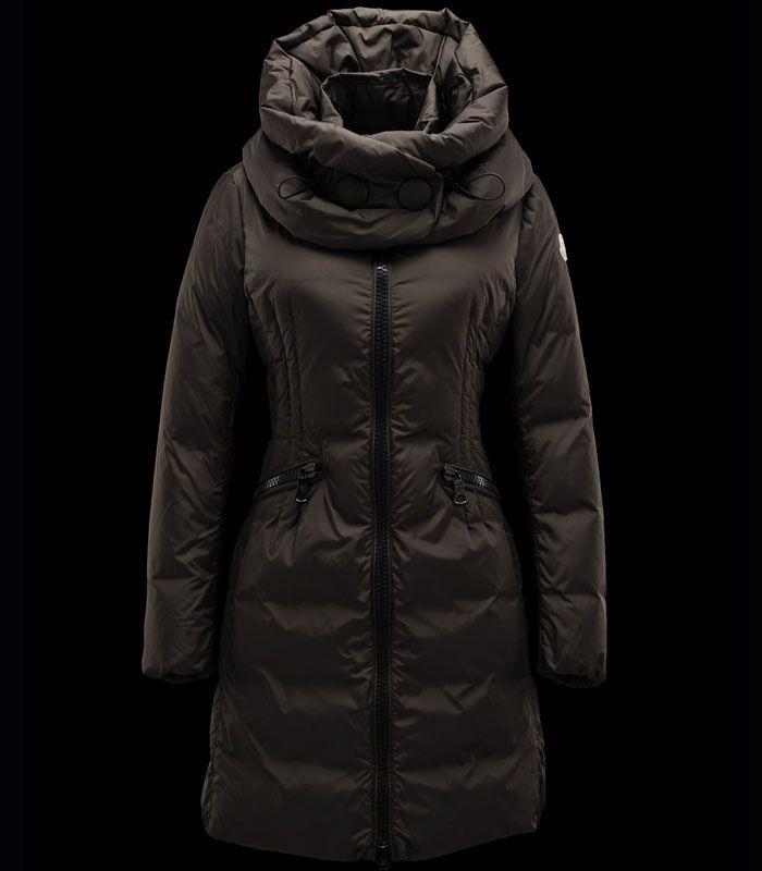 2012 Moncler Cyroselle Women Long Down Coat Black