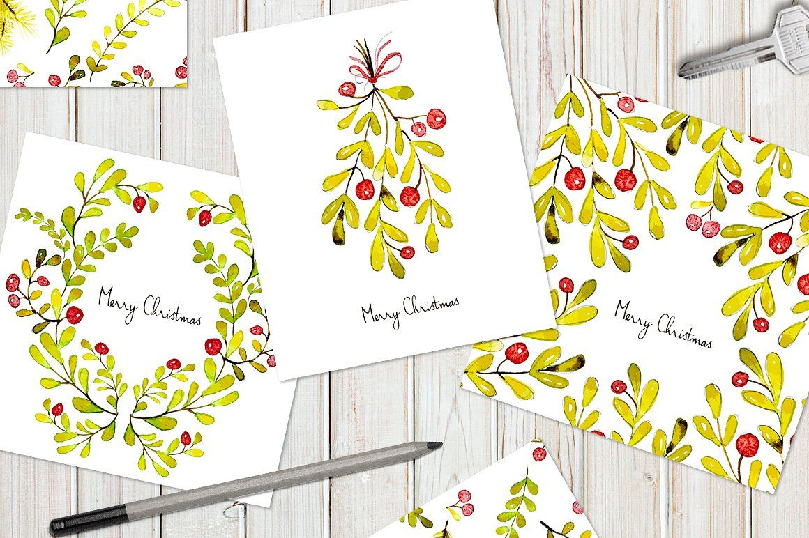 Christmas cards & tile patterns | Tile patterns, Watercolor and ...