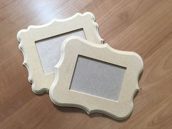 8X10 Unpainted Briana Style whimsical wood unfinished picture frames ...