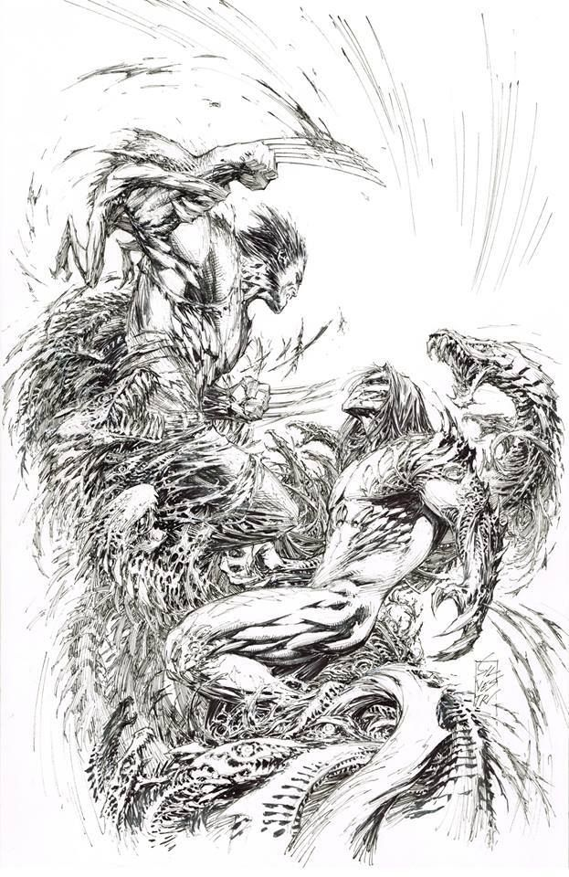 Wolverine vs Darkness by Marc Silvestri | Wolverine / Sabretooth and ...