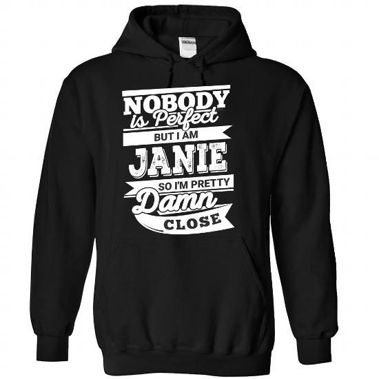 JANIE-the-awesome - #best friend shirt #blusas shirt. ORDER NOW => https://www.sunfrog.com/LifeStyle/JANIE-the-awesome-Black-87737963-Hoodie.html?68278