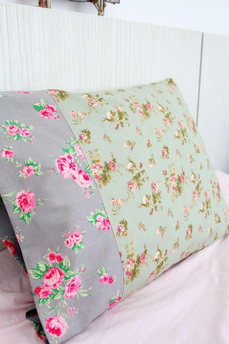 Making Pillowcases Gorgeous Pillowcase Tutorial Easy Sew For The Absolute Beginner  Tutorials Decorating Design