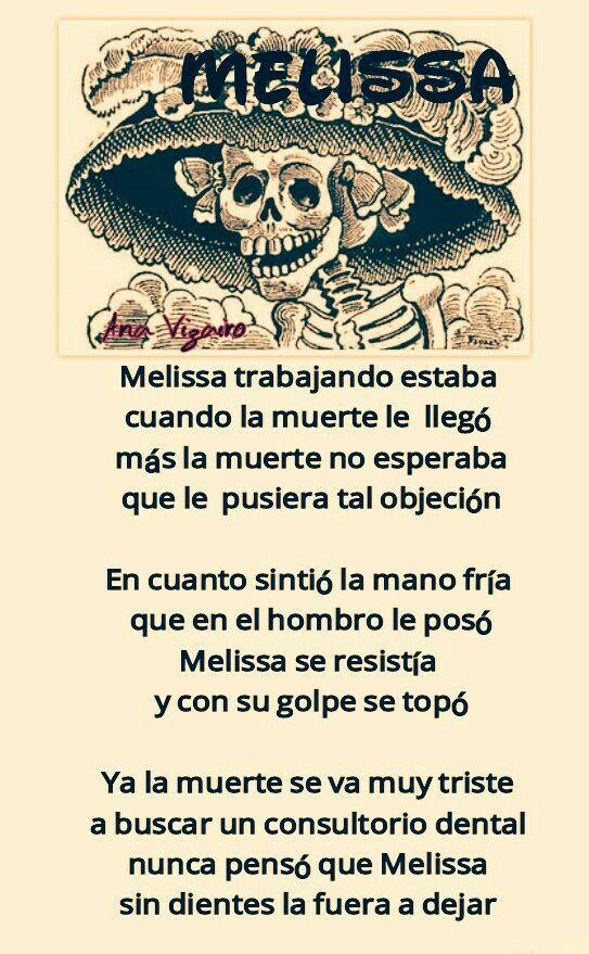Melissa Calaverita 2015 Dibujo Dia De Muertos Calaveras