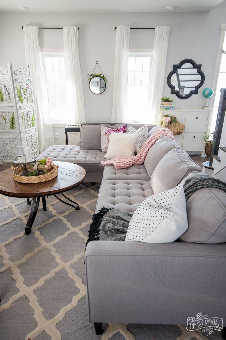 2018 Spring Decor Farmhouse Living Room Tour Home Decor Ideas