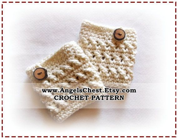 CROCHET PATTERN PDF Crocheted Boot Cuff Boot Covers by AngelsChest