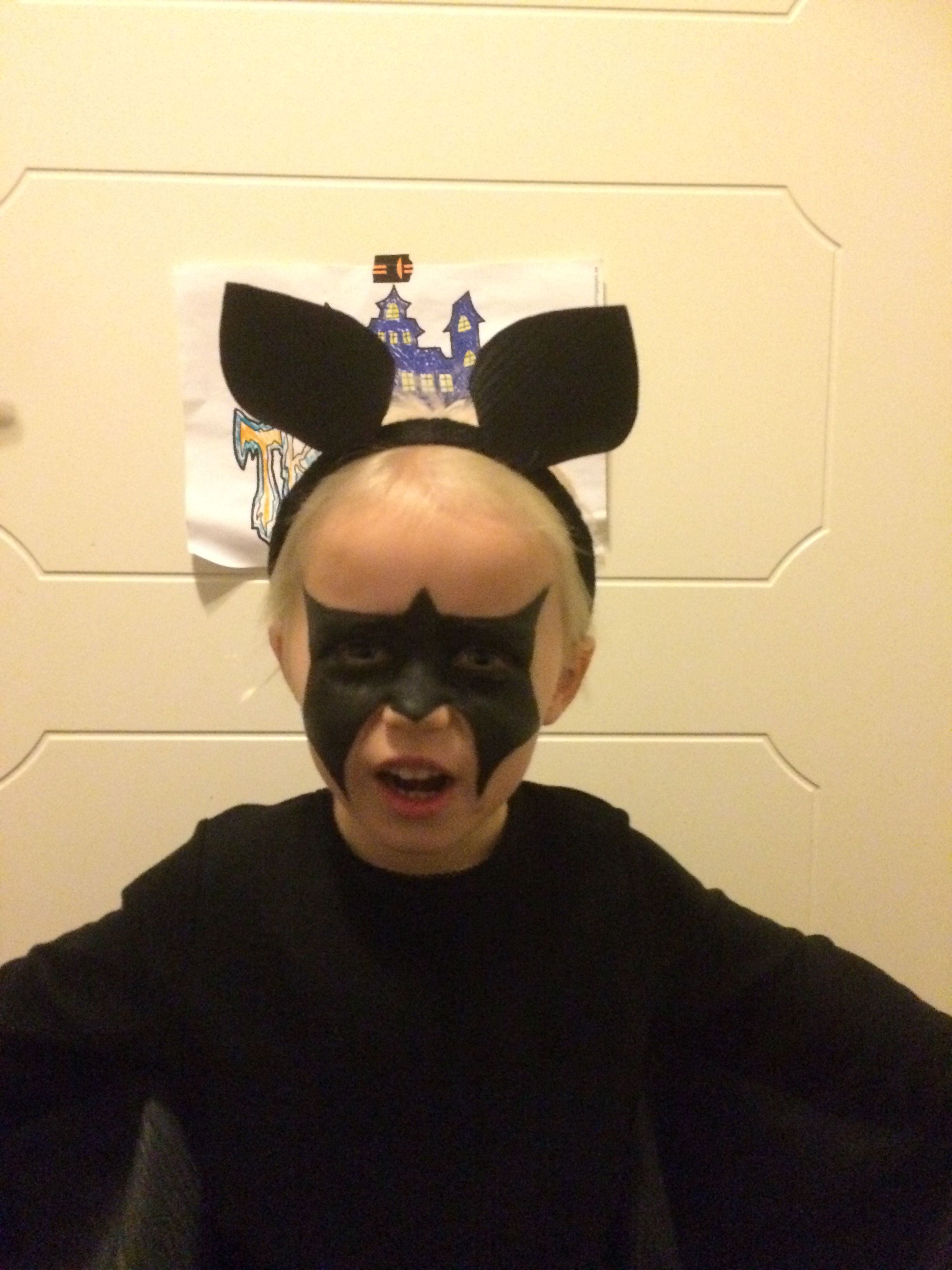 Maskerad utklädd fladdermus bat ansiktsmålning diy crafts pyssel ... 9f74a693a7123