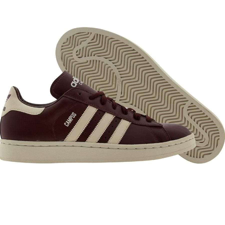 Adidas Campus Leather (burgandy red) 036347 - $58.00