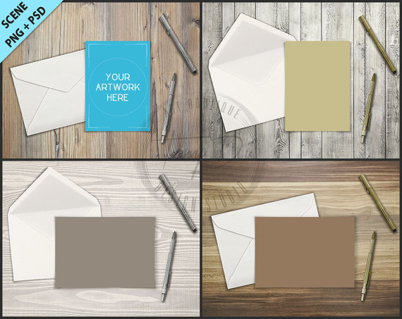 Greeting card envelope pen on wood table styling 5x7 empty greeting card envelope pen on wood table styling 5x7 empty portrait landscape card styled desktop mockup d7 styled stock photography m4hsunfo