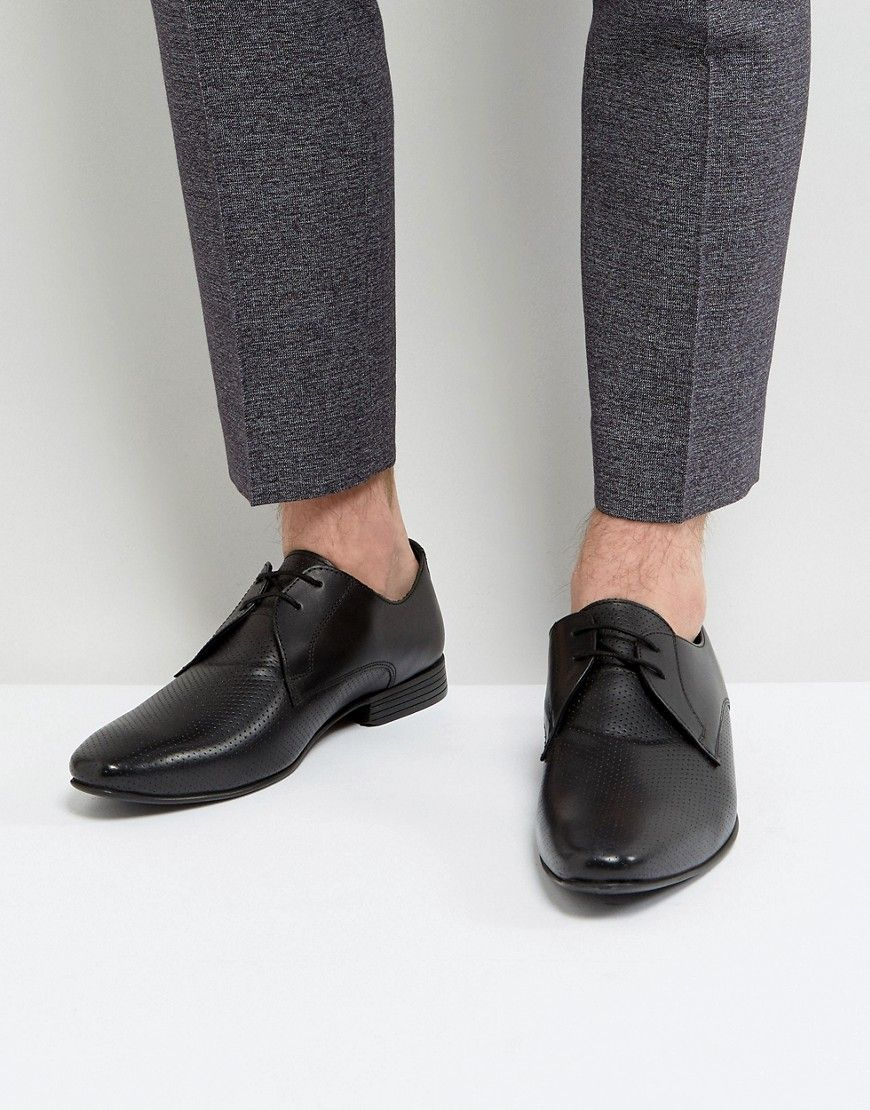 b7d3abb301f KG KURT GEIGER KG BY KURT GEIGER SMART PERFORATED SHOES - BLACK.   kgkurtgeiger  shoes