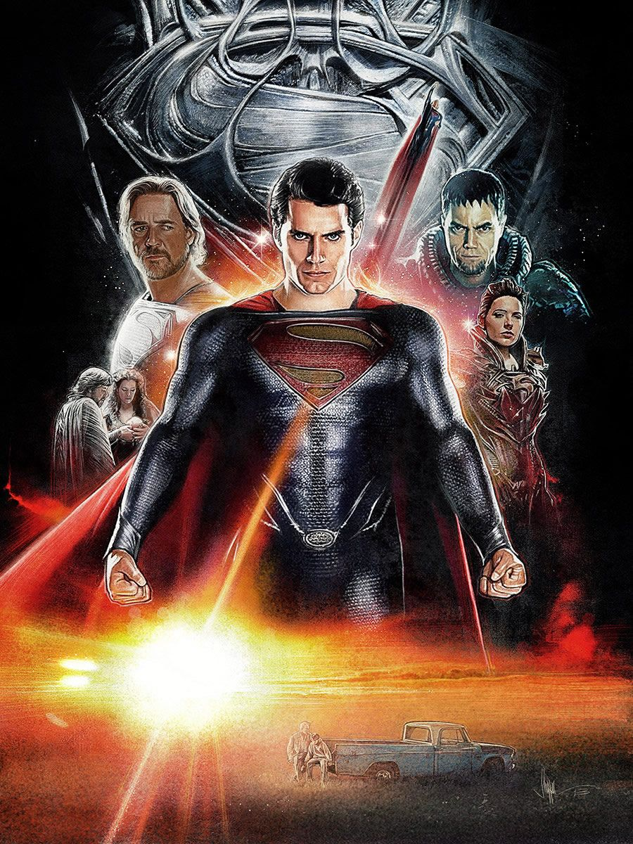 Illustrated Movie Posters by Paul Shipper Superman