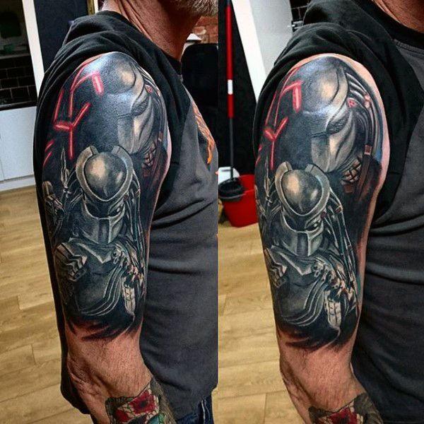 3f074bafc 50 Predator Tattoo Designs For Men - Sci-Fi Ink Ideas | Tattoo's ...