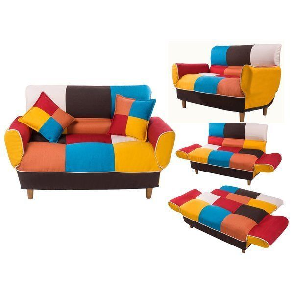 Tremendous Modern 2 3 Seater Sofa Couch Multicolor Fabric Loveseat Pabps2019 Chair Design Images Pabps2019Com