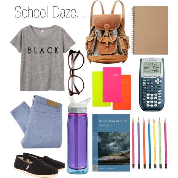 """School Daze.."" by sarahjgarcia on Polyvore"