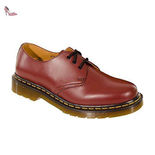 cd6211563988 Dr Martens 1461 Smooth Chaussures (Rouge cerise) - 41 - Chaussures dr  martens (