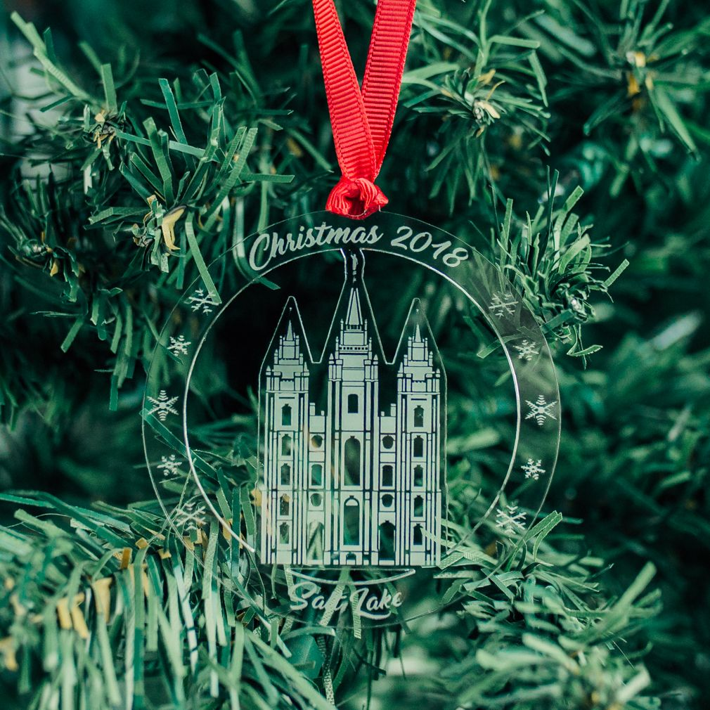 Salt Lake City Christmas 2021 Salt Lake City Temple Ornament Acrylic In 2021 Salt Lake City Temple Salt Lake Temple Pictures How To Make Ornaments