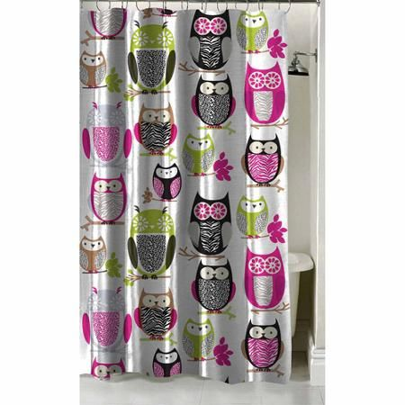 Latitude Sketchy Owl Shower Curtain 70 X 72