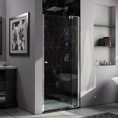 Dreamline Allure 33 X 73 Pivot Frameless Shower Door Frameless