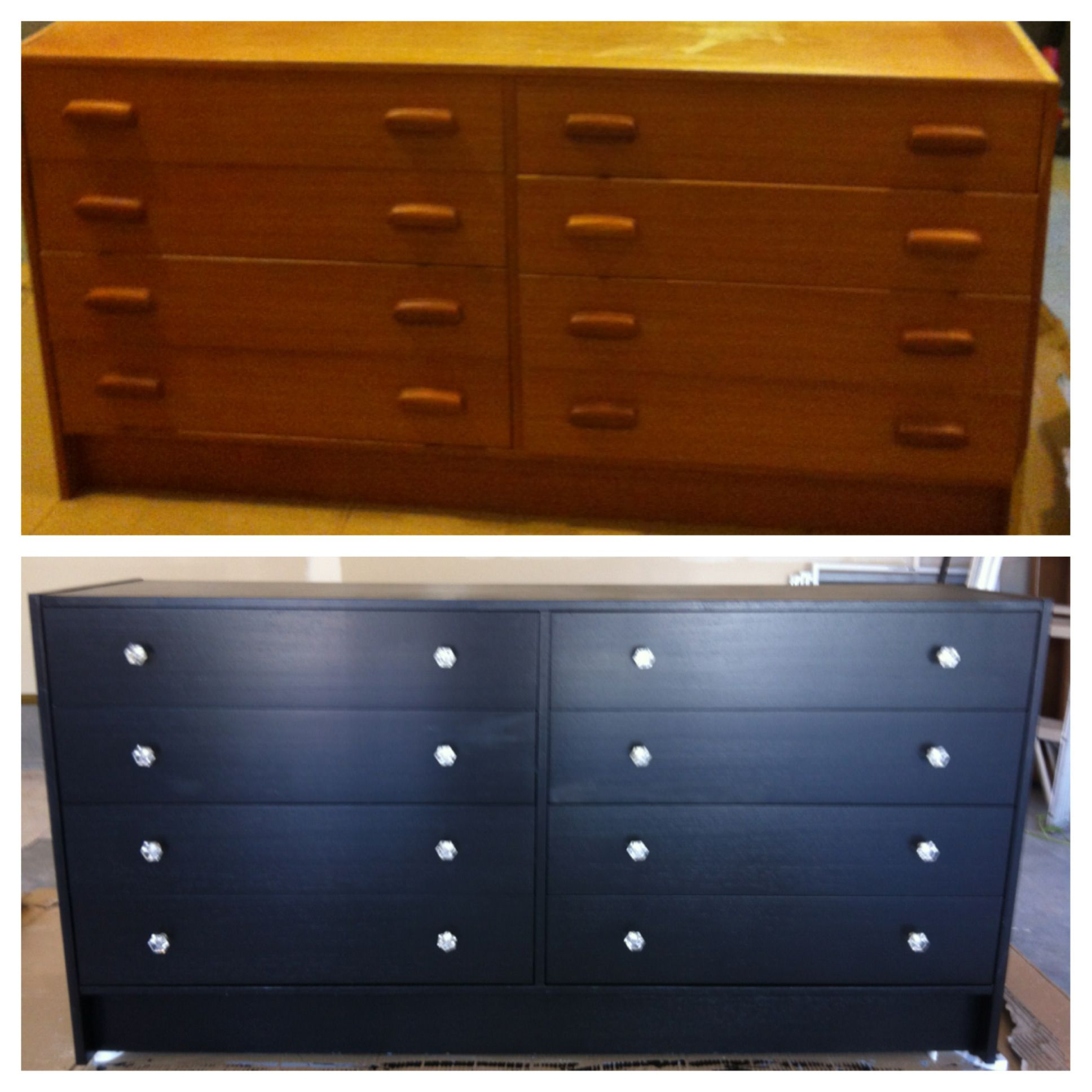 Painted furniture ideas before and after - Before After Salvation Army Find 240 To Buy Dresser Night Stand Paint