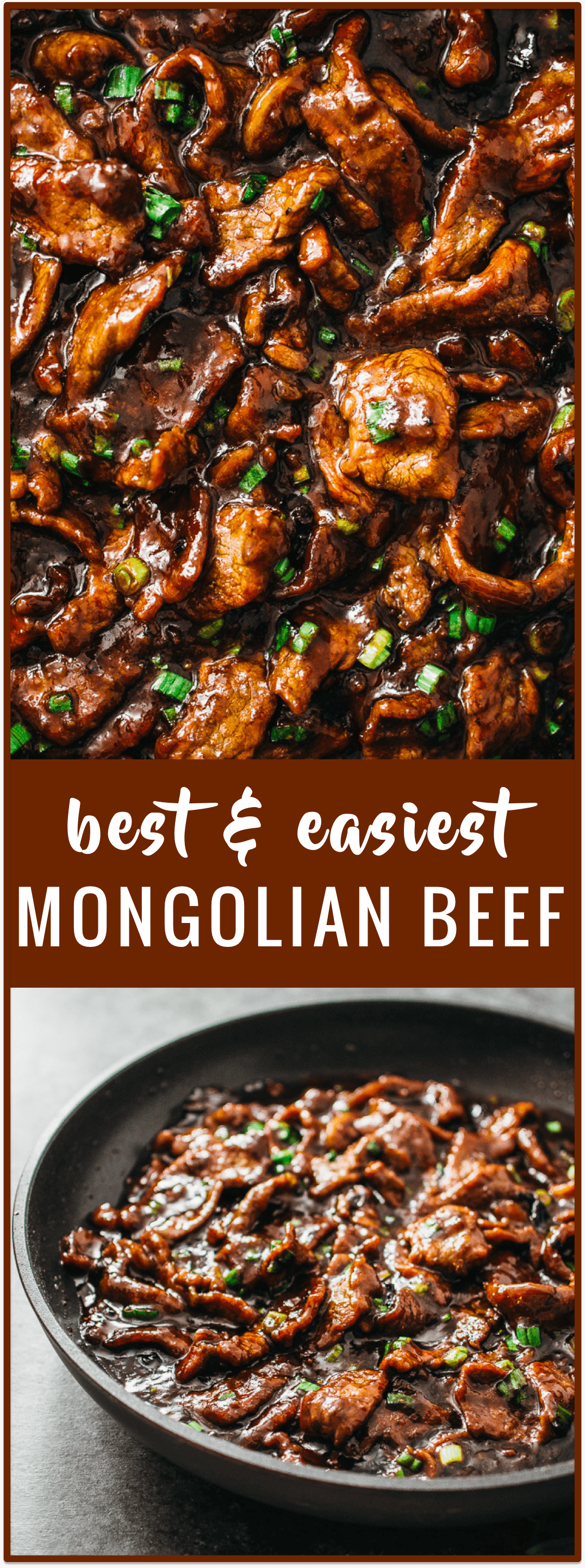 Best Mongolian beef: easy, authentic, and fast 15-minute stir-fry recipe with tender beef slices and a bold sticky sauce! spicy, steamed rice, noodles, pf changs, tacos, healthy, ramen, mongolian beef and broccoli, crispy, easy, simple, recipe, dinner, sauce, bowl, authentic, gluten free, marinade, 30 minute, fast, 15 minute, best, sides, panda express, chinese, copycat, stirfry, sirloin, quick, cooking light, rice, flank steak, tasty #beef #recipe video. #marinadeforbeef