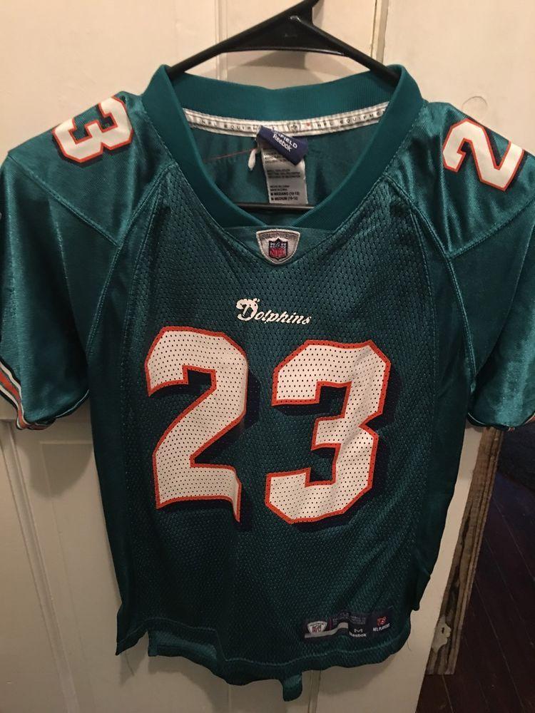 7d9287dd307a NFL MIAMI DOLFINS JERSEY KIDS 10 12 BROWN  Reebok  MiamiDolphins ...