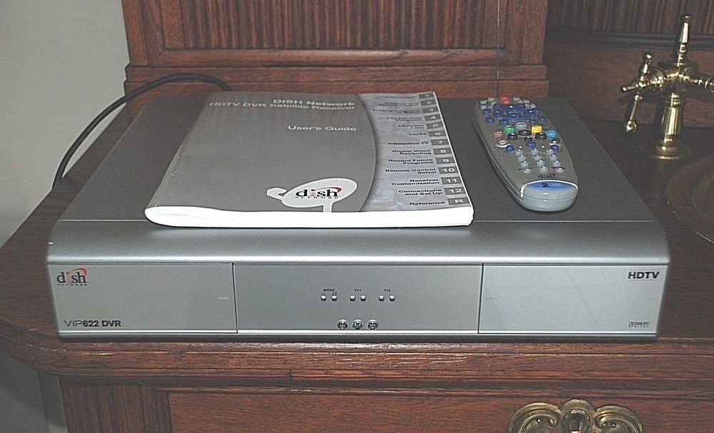 Dish Network VIP 622 HDTV DVR Satellite Receiver Manual Remote 320GB DISHNetwork