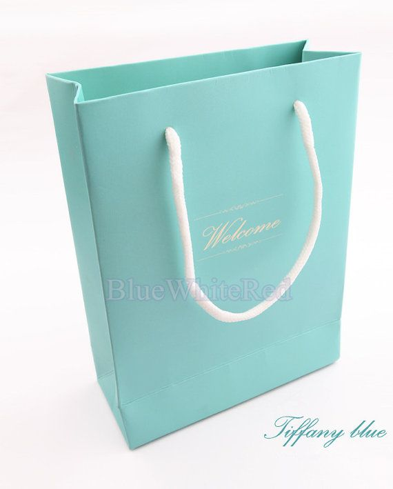 10 pcs (S)size Tiffany Blue gift shopping bag Handmade Handle ...