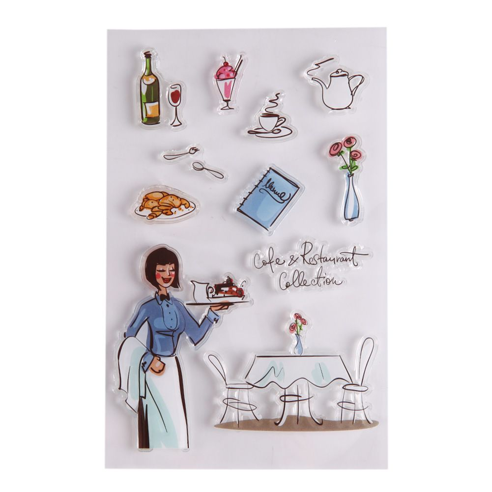 Colorful Cartoon Transparent Stamps for DIY Scrapbooking Dairy Cards ...