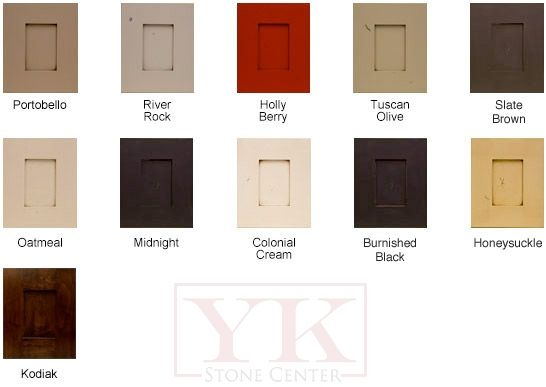 Shaker style cabinets with colonial cream as the color for Cream shaker style kitchen cabinets