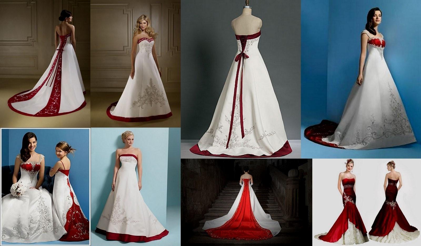 715c6cdbfab4 red and white wedding dress davids bridal Naf Dresses