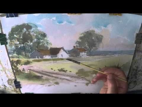 Farmhouse Cottage Watercolour Painting Demo Watercolor Farm Art