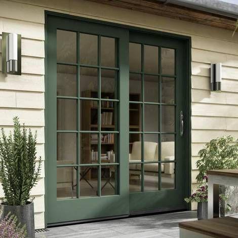 Jeld Wen Siteline Clad Wood Sliding Patio Doorbuilt From Auralast Wood Pine The Exterior Doors Sliding Doors Exterior Beautiful French Doors