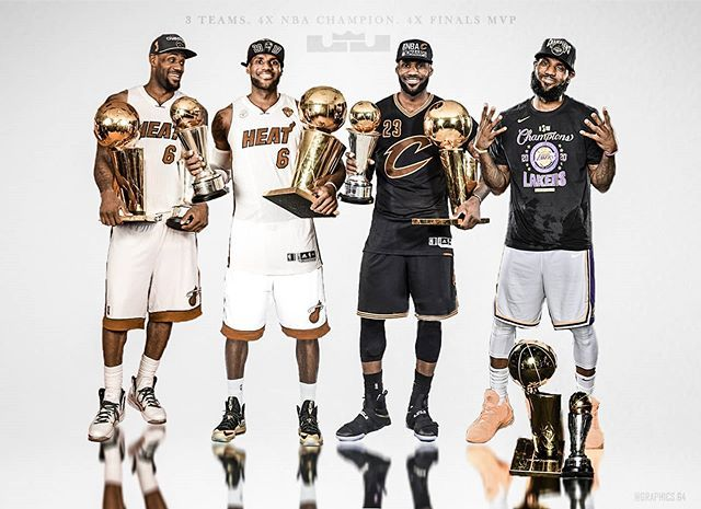 Graphics 64 On Instagram 4 Nba Championships 4 Finals Mvp 3 Teams 1 King Lakers Lebronjam In 2020 Lebron James Championship Lebron James Nba Championships