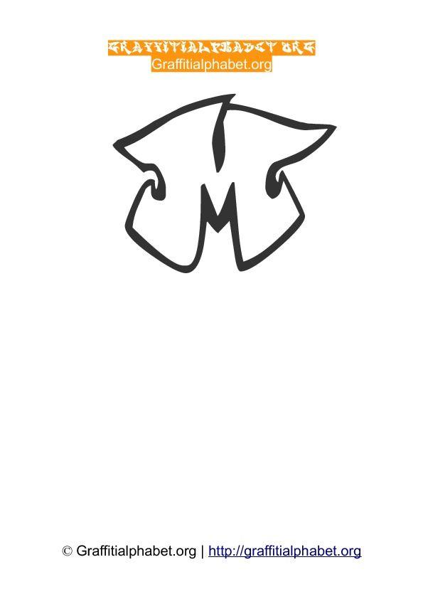 Graffonti Wildstyle Graffiti Alphabet M | graffiti art | Pinterest