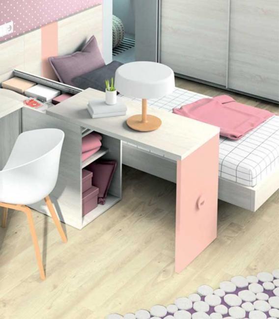 Habitación Juvenil 46 escritorio desplazable Azor Dormitorios Juveniles