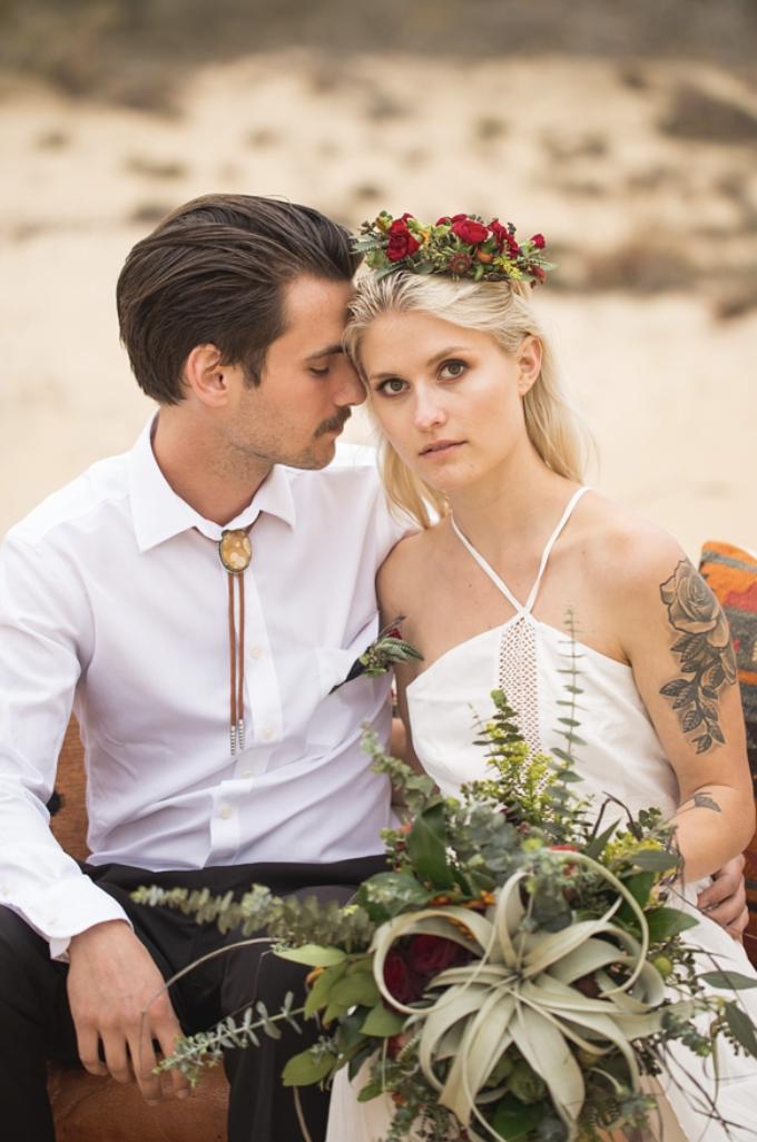 Boho Wedding Air Plant Wedding Bouquet Groom Bolo Tie Desert Wedding Southwestern Wedding T Wedding Styled Wedding Shooting Southwestern Wedding