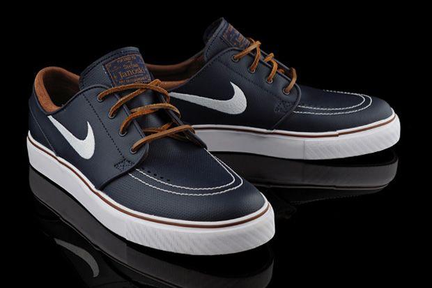 diseño popular primer nivel descuento en venta Nike SB Zoom Stefan Janoski Obsidian Leather | Nike leather, Nike ...