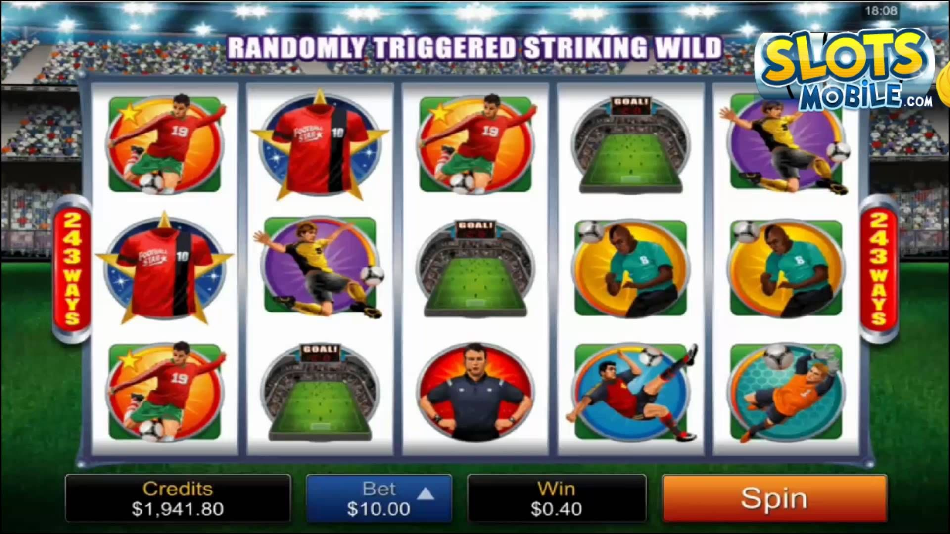 Here's a video review of Football Star mobile slots from Microgaming.  You can check out the full Football Star slot game review at http://www.slotsmobile.com/slots/football-star/  For more information on the best mobile slots casinos, mobile slots bonuses and mobile slot game reviews, please visit:  SlotsMobile.com http://www.slotsmobile.com/ #1 Mobile Slots Guide