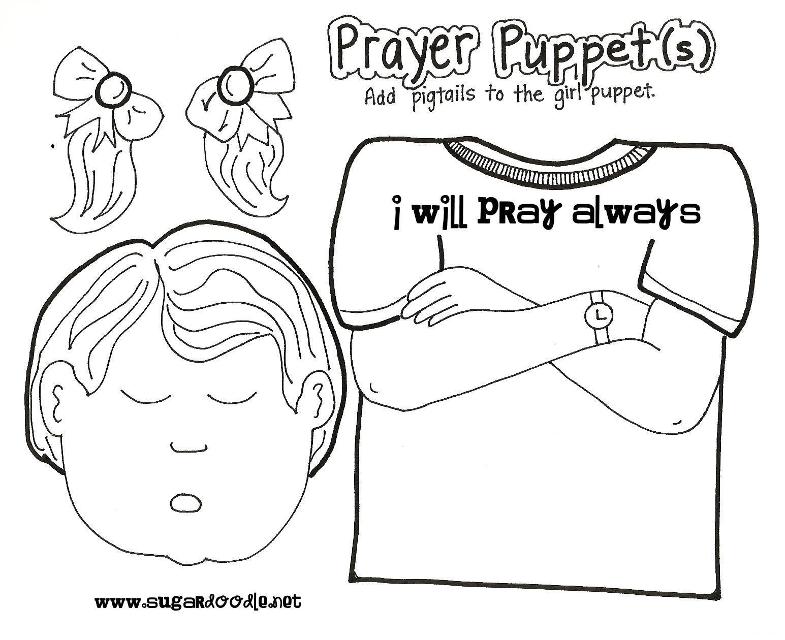 i used this prayer puppets for the sunbeam lesson 4 i can pray to