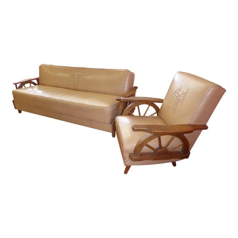 Fantastic Vintage Western Cowboy Wagon Wheel Sleeper Sofa Rocking Camellatalisay Diy Chair Ideas Camellatalisaycom