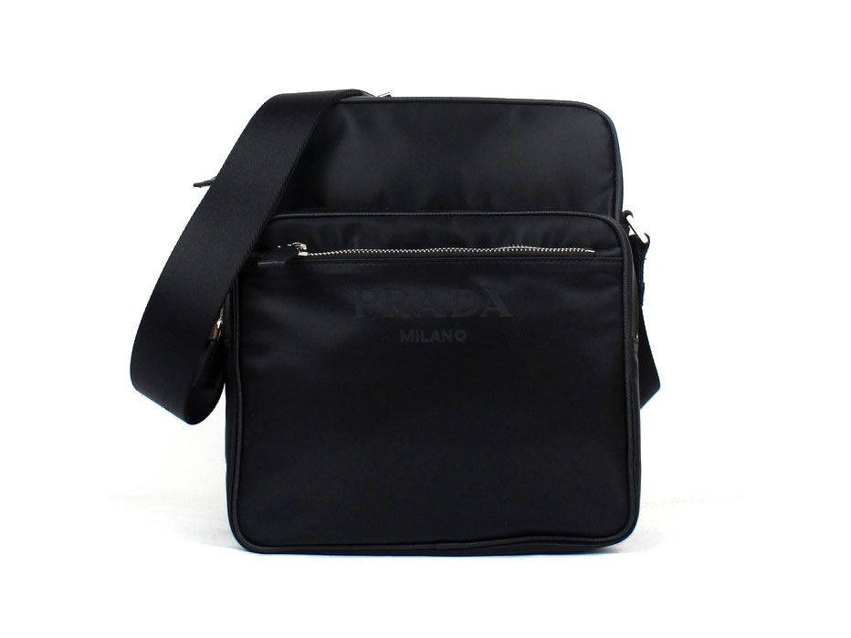 e263ad7c606d ... messenger bag with leather trim. prada bags shoulder bags leather nylon  lining e71e4 a98c0; discount code for luxury prada va0768 bags in black  outlet ...