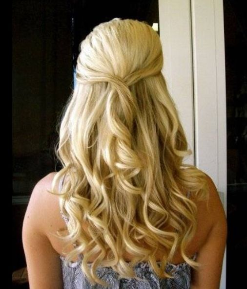 Halfway Up Hair Styles Half Up Hair Prom Hairstyles For Long Hair