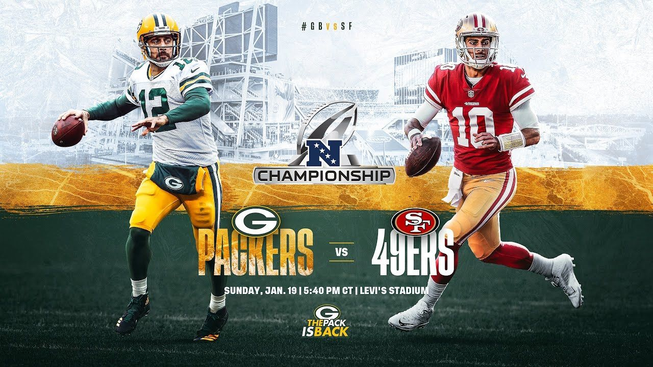 Green Bay Packers Vs San Francisco 49ers Live Stream How To Watch Fox Tv Channel Start Time In 2020 Nfc Championship Game 49ers Vs Packers Championship Game