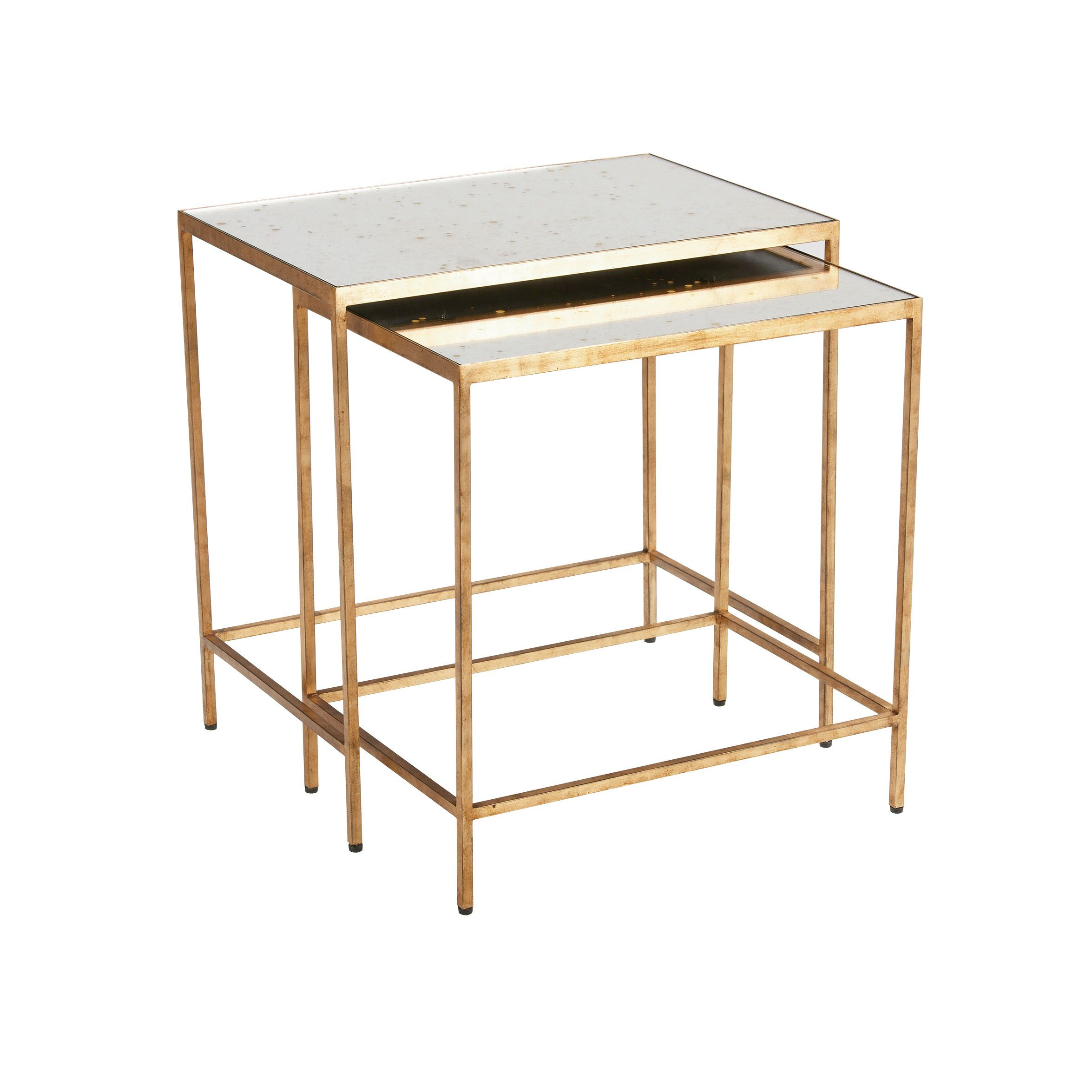 Zachary Nesting End Tables - Ethan Allen US. Mirrored end ...