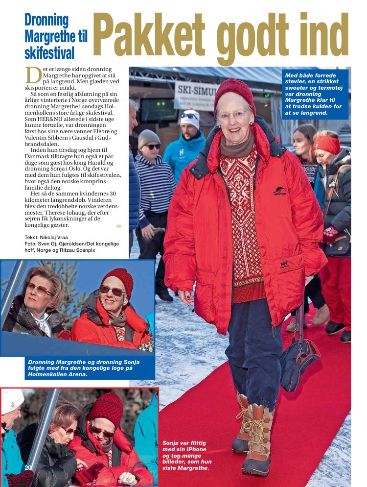 11 03 2019 Norwegian Royal Family And Queen Margrethe Attended Holmenkollen Ski Festival Her Basketball Workouts Basketball Court Flooring Basketball Uniforms