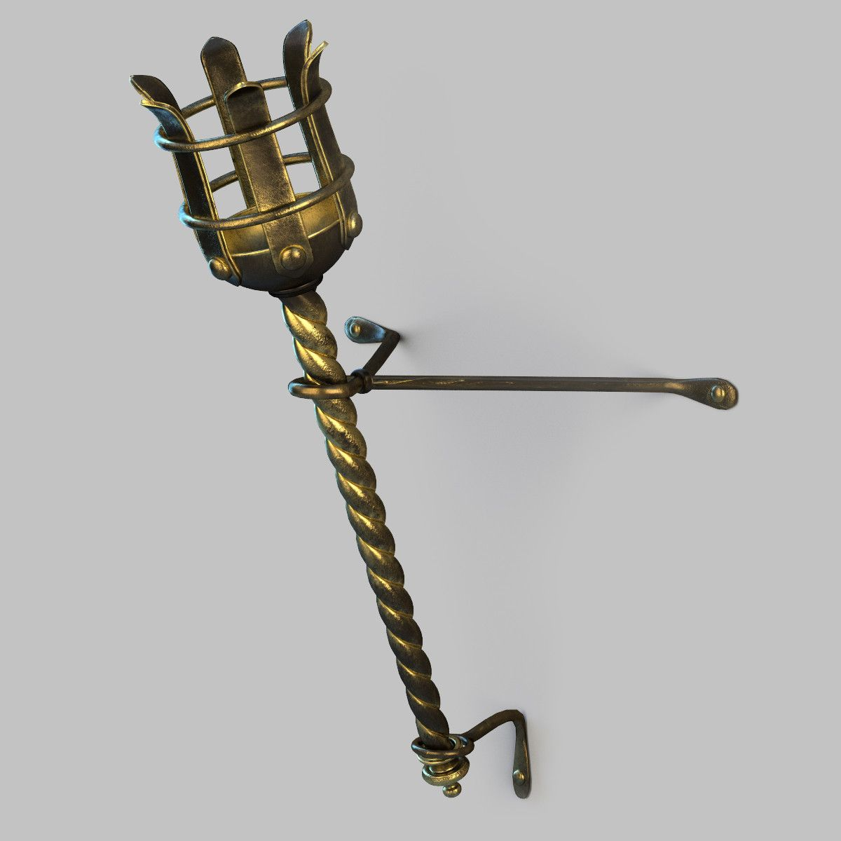 3D Model Of Hand Torch